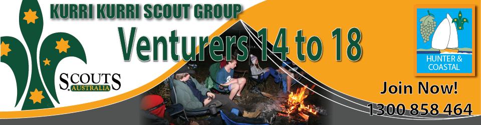 Kurri Venturers around the campfire